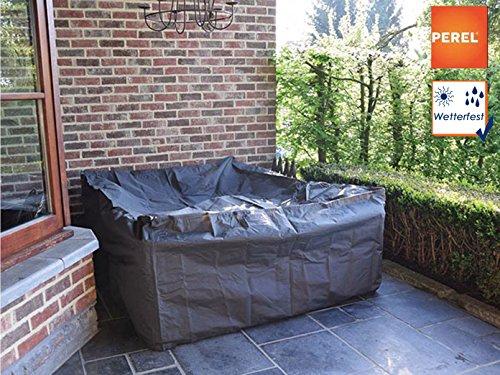 Perel Garden Lounge Set L Ocls L Protective Case Cover–Black, 300x 300x 75cm