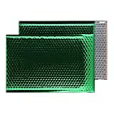 Purely Haftklebetaschen, C3, 450 x 324 mm haftklebend, Metallic/Luftpolstertaschen, gepolstert, Smaragdgrün, 50 Stück