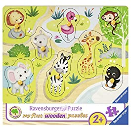 Ravensburger Italy- My First Wooden Puzzle Andiamo allo Zoo, 03687
