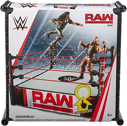 WWE Raw Ring de Combate de Los Luchadores de la WWE, Juguetes Niños 6 Años (Mattel GDB87)