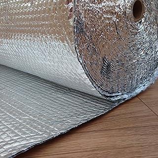 Yuzet 1711 1.2m x 25m Double Aluminium Bubble Insulation FOIL Thermal LOFT ROOF ATTIC Wall Garage Caravan Camper Van DIY
