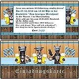 Einladungskarten zum Oktoberfest Geburtstag bayrische Motto-Party Ticket im set O zapt is Hüttengaudi Feier Jubiläum Hund - 50 Stück Ticket Eintrittskarte Einladung bayerisch