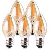 C7 LED-lamp, Genixgreen 0,5 W lichtkaarslampen, Amber Glow 4w gloeilamp vervanging decoratieve Edison E14 kandelaar fitting l