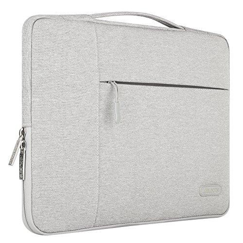 MOSISO Tasche Sleeve Hülle für 13-13,3 Zoll MacBook Pro, MacBook Air, Notebook Computer Multifunktionshülsen Spritzwasserfest Laptoptasche Notebooktasche Aktentaschen Handtaschen Kasten mit zusätzlichem Stauraum Polyester Schutzhülle, Grau