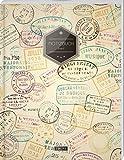 """TULPE Liniertes Notizbuch A4 """"C029 Reisetagebuch"""" (140+ Seiten, Vintage Softcover, Doppelrand, Seitenzahlen, Registe"""