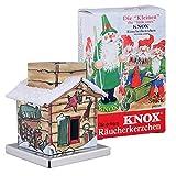 Knox The Little One - Räucherhaus Sauna + Mini-Räucherkerzen Bunte Mischung