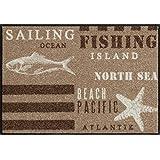 Salonloewe Fußmatte waschbar Mediterranean Spirit Beach 50x75 cm SLD1157-050x075