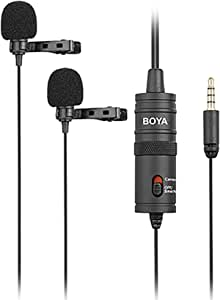 Boya By M1dm Doppelter Lavalier Für Dslr Kamera Kamera