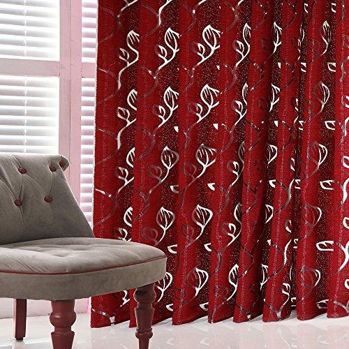 sunnymi  ® 1 STÜCKE Reben Blätter Tüll Tür Fenster Vorhang Drapieren Panel Sheer Schal Volants (F) -