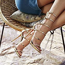High Heel Sandalen Gold, Golden, Neununddreißig