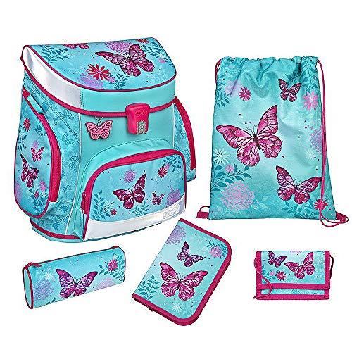 Undercover Butterfly Schulranzen Set 5 teilig BUTE8253 Scooli CAMPUS FIT Ranzen