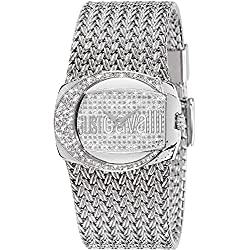 Just Cavalli Rich Women's Quartz Watch with Silver Dial Analogue Display and Silver Stainless Steel Strap R7253277545