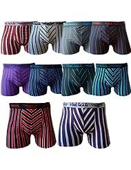 Caleçon boxers rétro pour homme de couleur noir/couleurs mélangées/neutre & coton microfibre