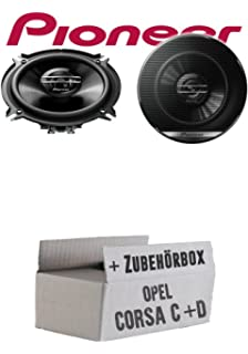 Einbauset f/ür Opel Corsa B//C//D 16cm Koax Lautsprecher JBL STAGE2 624 JUST SOUND best choice for caraudio 2-Wege