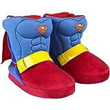 Marvel Superman Zapatillas de Estar por Casa para Niños, Pantuflas Suaves, Cálidas y Acogedoras, Zapatillas 3D Súper Divertid