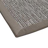 Sisal-Optik In- und Outdoor-Teppich Flachgewebe hochwertig genähte Bordüre, Variante: hell-grau 200x290, lieferbar in 9 Größen