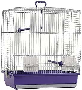 Cage à oiseaux violette charlotte 39x25.5x45cm