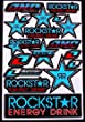""" Motocross stickers "" RLB3 boys Rockstar bmx bike Scooter Moped army Decal Stickers"