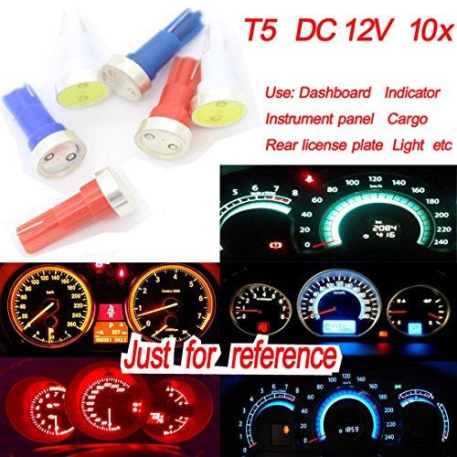 Preisvergleich Produktbild 10x T5dongzhen DC12V COB LED Armaturenbrett Lampe für BMW für Fiat Gauge Instrument Kontrollleuchte