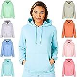 Light & Shade Women's Ladies Super Soft Pastel Bright Loungewear Hoodie Hooded Sweatshirt Top