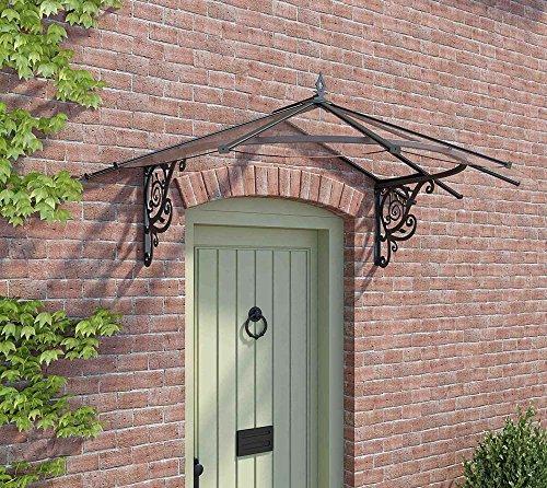 Palram Vordach, Regenschutz, Überdachung Lily klar//175x125 cm (BxT)//Pultvordach und Türüberdachung