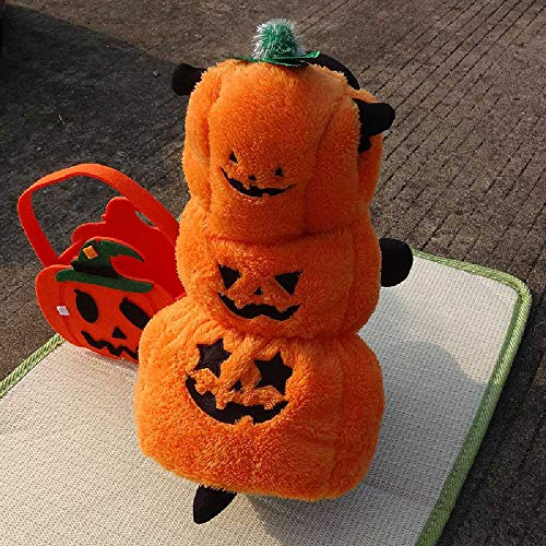 YDYDYD Halloween-Tierkleidung, Herbst, Osteuropa, Monster-Hund-Klamotten, Kürbisse-Kürbis-Kostüm. XL/Gelb