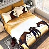 Dream Weaverz Classy & Attractive King Size Bedsheet For Double Bed - Bedsheet With Pillow Covers- Multi (Size 100 X 100 Inches)