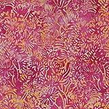 Orange Cluster Design 100% Baumwolle Bali Batik tie dye Muster Stoff für Patchwork, Quilten &,–(Preis pro/Quarter Meter)