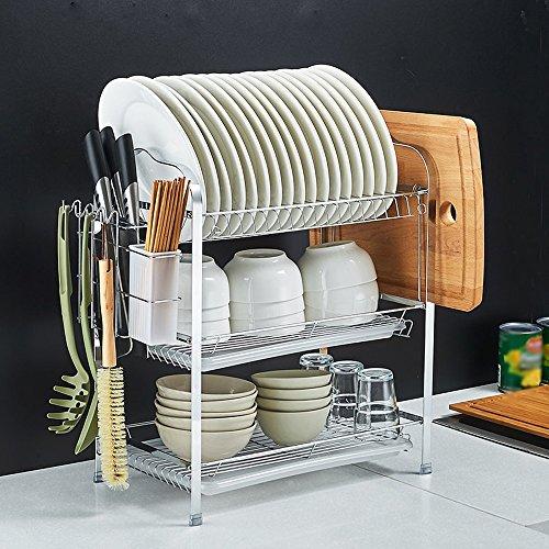 Cutting Board Rack Küche (Regale Iron Dish Rack Entwässerungsmaschine, Küche Storage Regale ( Farbe : 3 layers - cutting board shelves ))