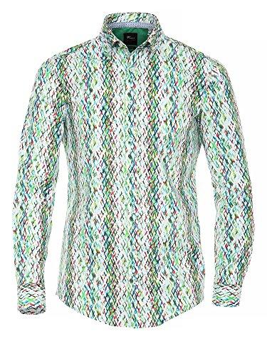 Venti Messieurs Chemise d'affaires 100 % coton Body stretch Multicolore