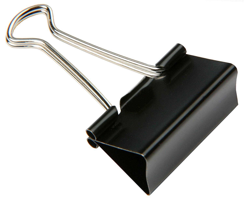15pezzi foldback di graffette 32mm Binder Clips nero