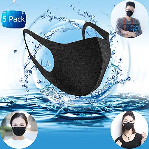 Moderne Mundmaske zur Pollen-Prävention, Unisex, Anti-Staubmaske Gazemaske Earloop Gesichtsmaske Mundmaske, Maskenfilter, Atemschutzmaske wiederverwendbar, waschbar, bei Allergie, Grippe