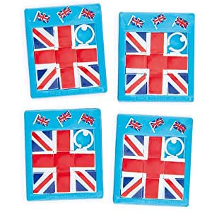 Union Jack Sliding Puzzles (Pack of 6)