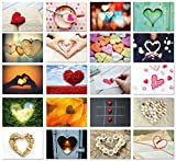 Hochzeit Postkarten Set / 20 Postkarten mit Herz Motiv / Postkarten Set Liebe für Hochzeitsspiel / Love Cards / von Sophies Kartenwelt