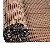 PVC Sichtschutzmatte Braun - Größe Wählbar Sichtschutzzaun Sichtschutz für Zaun