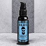 Beard Oil by Brave 60ml - Scottish Beard Conditioning Oil - Conditions & Softens. We Use a Blend of Premium Quality Oils with a Fresh Aromatic Scent. 100% Natural