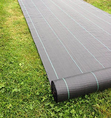 50 m² Heavy Duty Weed Control treillis toile sol paillis membrane Mat 100gsm