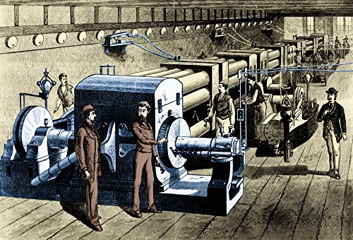 The Poster Corp Science Source - Pearl Street Station Central Power Plant 1880s Kunstdruck (91,44 x 60,96 cm) Pearl Power Station
