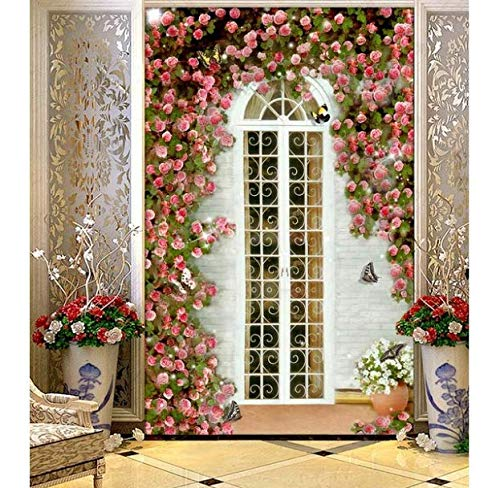 CHI Tapete White House Rose Garden Eingang 3D Tapete Landschaft Tapeten Für Wohnzimmer Home Decoration, 350 * 250Cm -