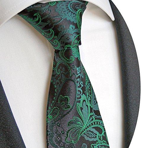 Beytnur Herren Krawatte aus Seiden Schwart Grün Paisley Model Nr.K 229.2