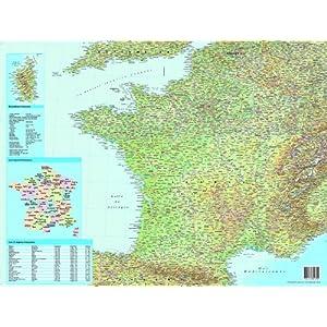 Esselte – Alfombrilla de escritorio (40 x 63,5 cm, en francés), diseño de mapa de Francia