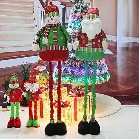 Natale Decorazioni Natale scena layout scalabile pupazzo di neve di Natale ornamenti ornamento di Natale di Babbo Natale bambola,Uomo anziano di Regina 130cm