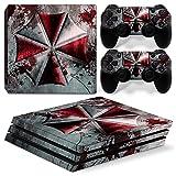 46 North Design Ps4 Pro Playstation 4 Pro Pegatinas De La Consola Umbrella + 2 Pegatinas Del Controlador