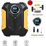 Portable Inflator Pump Auto Digital Tire Air Compressor Pump, 12V Tire Pump with LED Light for Car Bike SUV Tires, Includes A