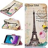 Galleria fotografica Cozy Hut Custodia Samsung J3, Galaxy J3 Cover, Samsung Galaxy J3 Flip Cover, Disegno di Stampa Disegno della Farfalla...