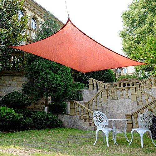 Asdomo Dreieckiges/rechteckiges Sonnensegel, UV-Schutz, robuster Sonnenschutz aus Stoff für...