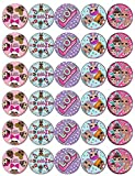 30 LOL Surprise Dolls Cupcake Toppers Edible Wafer Paper Fairy Cake Toppers Birthday Cakes