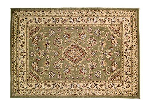 Extra Large Classico motivo floreale tradizionale orientale in stile persiano Tappeto Tappetino runner, 67x 300cm, Verde