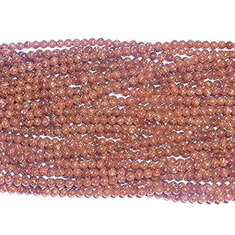 TheTasteJewelry 2mm Round Gold Sandstone Beads 15 inches 38cm Jewelry