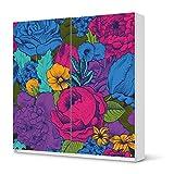 creatisto Möbel-Tattoo für IKEA Pax Schrank 201 cm Höhe - Schiebetür | Folie Dekor Möbel-Aufkleber Folie | Möbel renovieren Wohnideen | Muster Ornament Colorful Flowers